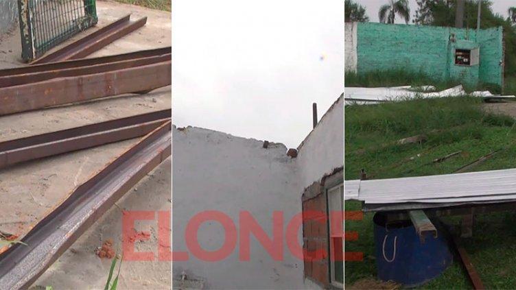 """Se voló el techo del Club Ministerio:""""Casi termina en la casa de una vecina"""""""