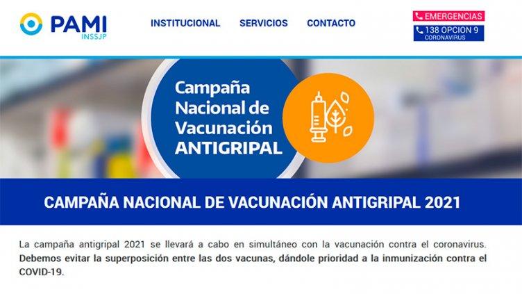 Desde el lunes inscriben a afiliados a PAMI para se vacunen contra la gripe