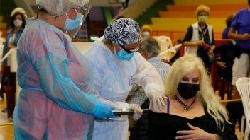 Susana Giménez se vacunó contra el coronavirus en Uruguay