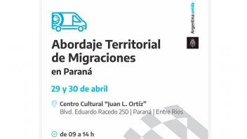 Una unidad de Migraciones de Nación atenderá en el centro cultural Juan L. Ortiz