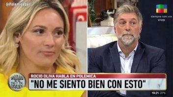 Rocío Oliva estalló de furia y cruzó a Horacio Cabak