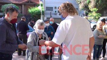 Unas 450 personas mayores de 80 años recibieron la segunda dosis contra el covid