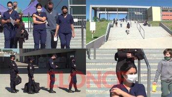 Trabajadores de Salud y de Seguridad fueron inoculados contra el covid