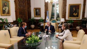 Bordet se reunió con el Presidente y el Jefe de Gabinete en Casa Rosada