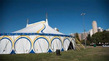 La carpa de un circo se convertirá en un centro de testeos de covid