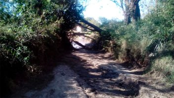 """El camino que lleva a la balsa por Colonia Avellaneda """"está intransitable"""""""