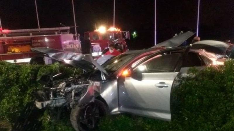 Así quedó el Audi tras el choque