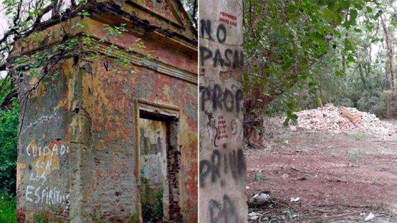 """Derrumbaron los restos de la supuesta """"mansión embrujada"""" de Tezanos Pintos"""