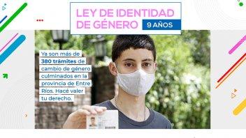 Se realizaron casi 400 trámites de cambio de género en Entre Ríos en nueve años