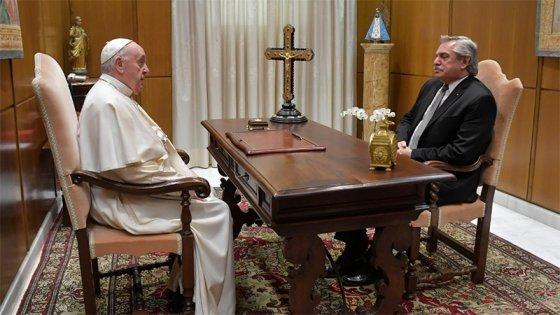 Fernández dijo que el Papa expresó