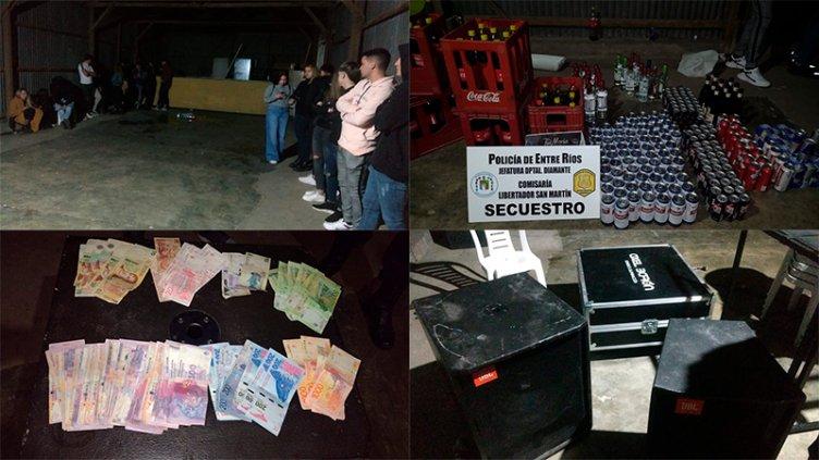 Fiesta clandestina: Secuestraron equipos, autos, bebidas y trasladaron a menores