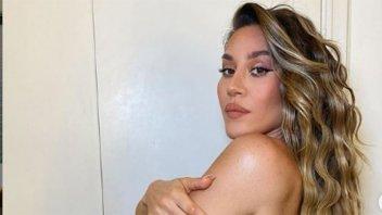 Jimena Barón festejó al desnudo su aparición en diarios europeos