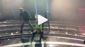 Doloroso accidente: actriz mostró el video de su caída en ensayo de baile