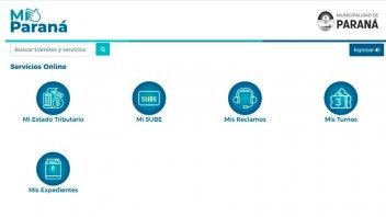 Habilitaron nuevos servicios a través de la aplicación Mi.Paraná