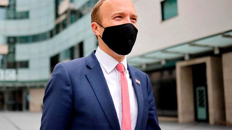 El ministro británico de Salud.