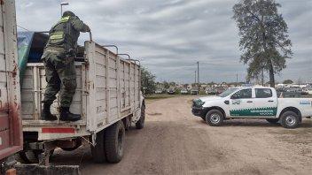 Gendarmería decomisó 56 toneladas de soja transportadas por la ruta 12