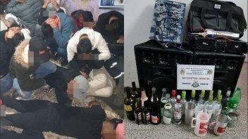 Desbaratan fiesta clandestina: demoraron a 77 mayores de edad y 16 menores