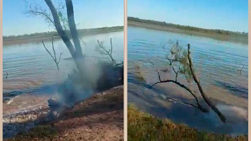 Impresionante video: en 120 segundos se desmorona tramo de barranca y cae al río