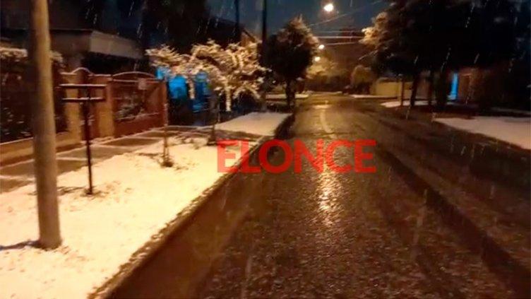 Nevó en la ciudad de Córdoba luego de 14 años: los videos y las fotos