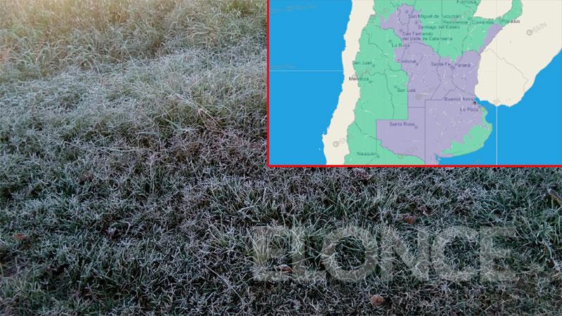 Por el frío, emitieron advertencia violeta para Entre Ríos y otras provincias