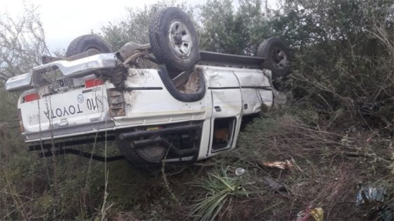 Camioneta despistó y volcó: dos mujeres fueron hospitalizadas
