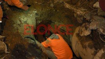 Culminó la reparación del caño que afectaba a diversos barrios de Paraná