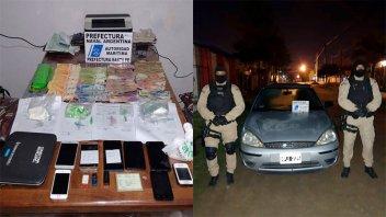 Efectivos de Prefectura secuestraron cocaína, dinero y otros elementos
