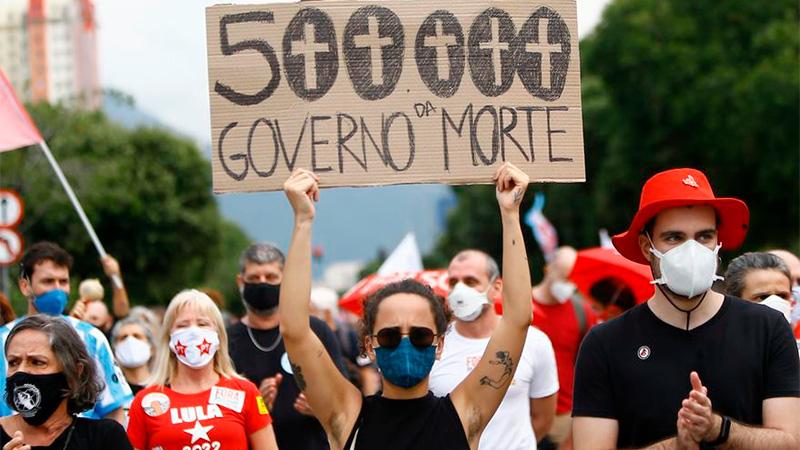 Brasil superó el medio millón de muertes por Covid-19
