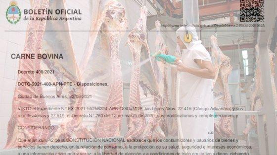 Oficializaron medidas para exportación de carne: precios de