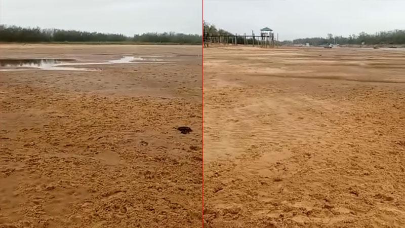 """Otro impactante video: """"Cruzamos caminando el Paraná Viejo, se secó del todo"""""""