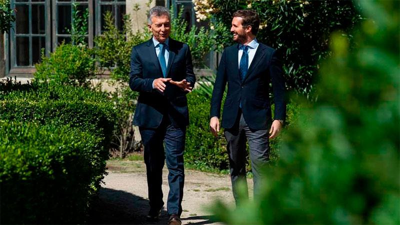 Encuentro de Mauricio Macri con Pablo Casado en España