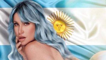 """Desnuda y con la bandera de fondo, Florencia Peña se mostró """"lista para Qatar"""""""