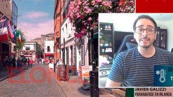 Es paranaense, hace 5 años migró a Irlanda y trabaja en la red social Tik Tok