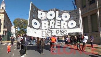 Polo Obrero cortó calles frente al municipio: exigieron una audiencia con Bahl