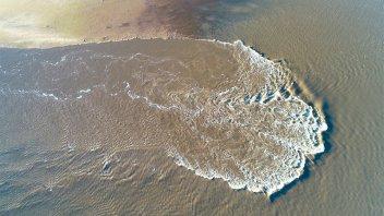 Video: imágenes aéreas de la bajante del río en la costanera santafesina