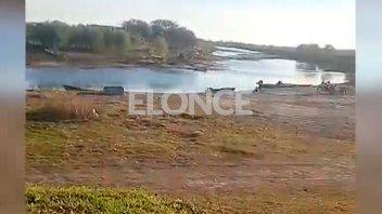 Impactante video de Las Cuevas: el conocido pesquero entrerriano, casi sin agua