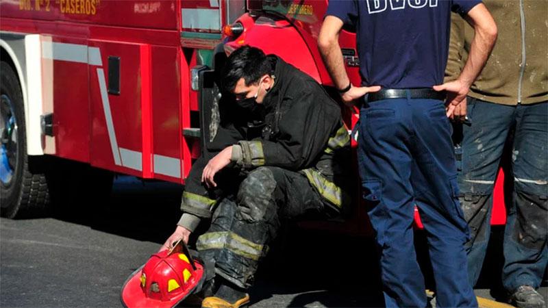 Consternación de los bomberos por la muerte de sus compañeros