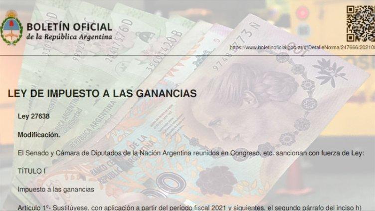 Oficializaron la modificación del Impuesto a las Ganancias y Bienes Personales