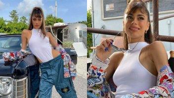 El combo explosivo de Tini Stoessel: body cavado y jean de tiro bajísimo