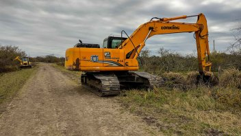 Vialidad realiza tareas de conservación en la zona de San Ramírez