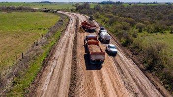 Productores destacan los trabajos de reconstrucción de la ruta 33