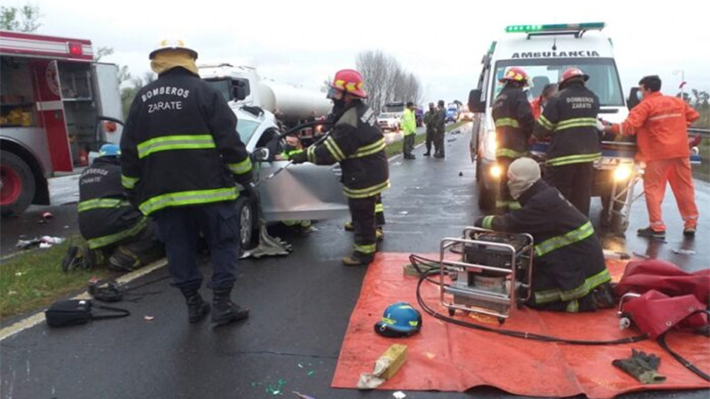 Fatal accidente en la ruta 12