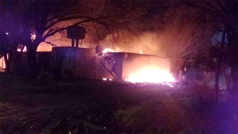 Seis viviendas fueron afectadas por un incendio.