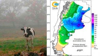 La lluvia superó el promedio mensual en Entre Ríos en diez días: perspectivas