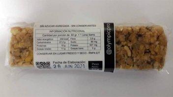 Prohibieron una barra energizante, una granola proteica y un aceite de coco