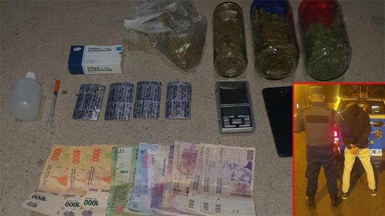 Incautaron droga, dinero y una balanza a un joven en un parque de Paraná