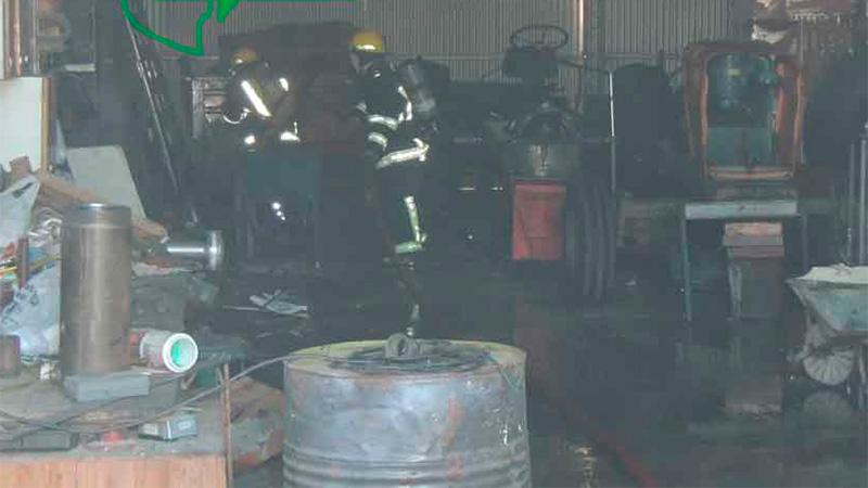 Mecánico sufrió heridas de consideración tras una explosión cuando soldaba.-