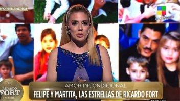 """Virginia Gallardo para los hijos de Ricardo Fort: """"Les pido disculpas"""""""