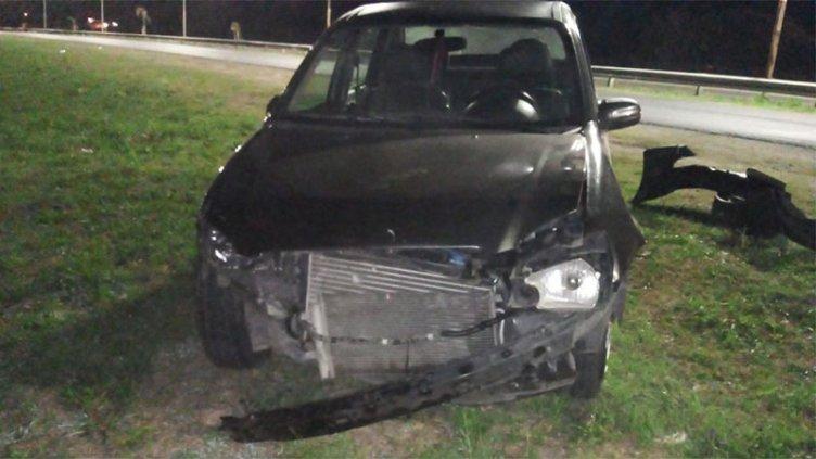 Conductor resultó herido tras despistar y chocar contra un guardarrail en Paraná
