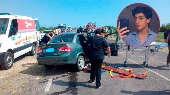 Piden dadores de sangre para joven sobreviviente a fatal accidente en Ruta 12